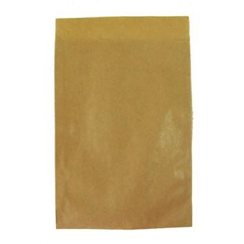 Papier-Flachbeutel; 130 x 180 mm; braun-glatt; Klappe ca. 20 mm; Kraftpapier, ca. 50 g/qm; Breite x Höhe; Zweinahtflachbeutel