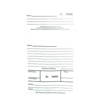 Reparatur-Flachbeutel, neutral; 130 x 240 mm; weiß mit fortlaufendem Nummerndruck; 2x nummeriert, 1x perforiert