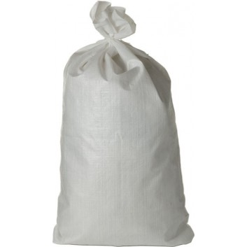 Gewebesack für Schwergut; 110 Liter; weiß; PE-Gewebe - geeignet bis 75kg; 67 x 113 cm; Breite x Höhe; Einzelsäcke