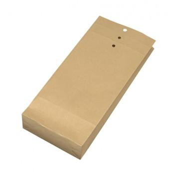Musterbeutel; verschiedene Formate; braun; ohne Fenster; ohne Klebung; 2x gerillt, 3x gelocht; 120 g/qm