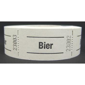 Gutschein-Rolle; 'Bier'; 1 = weiß; 500 Abrisse; 57 x 30 mm
