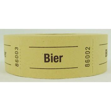 Gutschein-Rolle; 'Bier'; 2 = gelb; 500 Abrisse; 57 x 30 mm