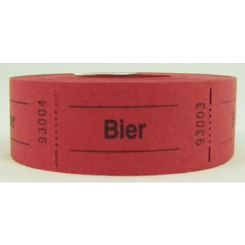 Gutschein-Rolle; 'Bier'; 4 = rot; 500 Abrisse; 57 x 30 mm