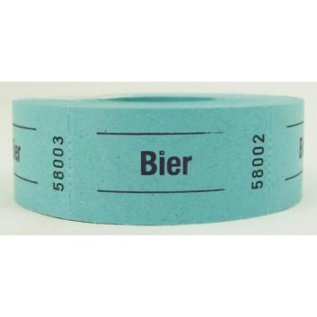 Gutschein-Rolle; 'Bier'; 7 = blau; 500 Abrisse; 57 x 30 mm