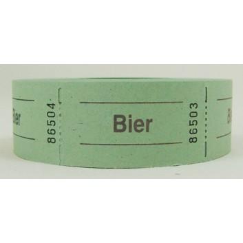 Gutschein-Rolle; 'Bier'; 8 = grün; 500 Abrisse; 57 x 30 mm