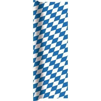 HomeFashion Tischläufer; 40 x 490 cm; Bayern Raute; weiß-blau; 0200-1174; Airlaid