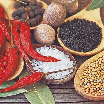 HomeFashion Servietten; 33 x 33 cm; Spicy; bunt; 211437; 3-lagig; 1/4 Falz (quadratisch); Zelltuch
