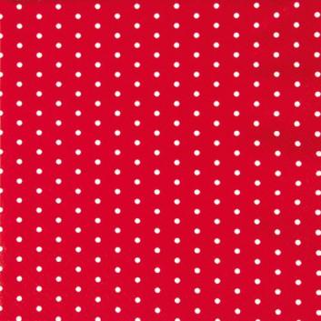 HomeFashion Servietten; 33 x 33 cm; Mini Dots; Punkte; weiß auf rot; 211452; 3-lagig; 1/4 Falz (quadratisch); Zelltuch