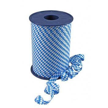 Präsent Ringelband bayerische Raute; 10 mm x 250 m; bayerisch Raute, 2-seitig; weiß-blau; Polyband