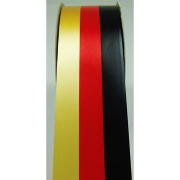 Ringelband Deutschland; 48 mm x 100 m; 1-seitig bedruckt, Rückseite gold; schwarz-rot-gold; Polyband