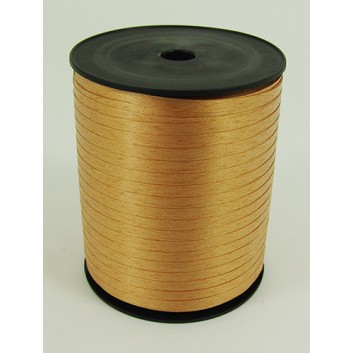 Bolis Poly-Ringelband; 5 mm x 500 m; uni: matt; oro antico: altgold; 12; Polyband/Kräuselband