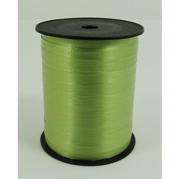 Bolis Poly-Ringelband; 10 mm x 250 m; uni: matt; muschio: olivgrün; 03; Polyband/Kräuselband