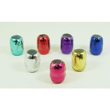 Ringelband-Ei; 5 mm x 20 m; uni: metallic-glänzend; 25 Rollen in 10 Farben; Polyband
