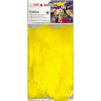 Pfau Federn; gelb; Pack a 10g