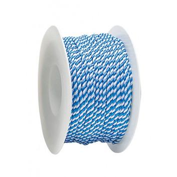 Kordel; 2 mm x 50 m; Landesfarbe Bayern; weiß-blau; 2-farbig