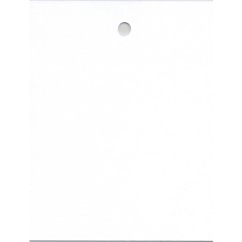Hängeetiketten; 30 x 40 mm; weiß; blanko; ohne Faden; ca. 30 x 30 mm; Karton; rechteckig; EL-3040BL