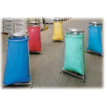Müllsack-Ständer, 3-Fuß verzinkt; 370 x 370 x 970 mm (B x T x H); bis 120 Liter; mit Deckel