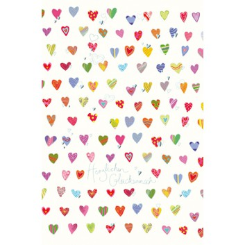 Skorpion Glückwunschkarte; 115 x 175 mm; Glückwunsch, allgemein; Art-Serie: Herzen; Ku: weiß, naßklebend, Spitzklappe