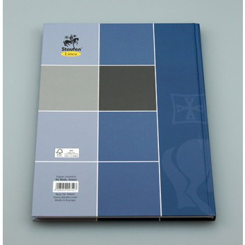blau Notizbuch 96 Blatt 70g//m² DIN A6 Farbe kariert Kladde