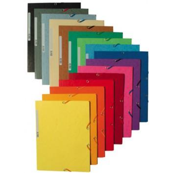 Exacompta Eckspanner-Sammelmappe; verschiedene Farben; für DIN A4; Manila-Karton; 400 g/qm (matt); ca. 250 Blatt; mit Gummizugverschluß, 3 Klappen