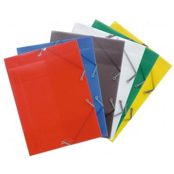 Exacompta Eckspanner-Sammelmappe Crystal; verschiedene Farben; für DIN A4; Polypropylen; ca. 250 Blatt; mit Gummizugverschluß über den Ecken