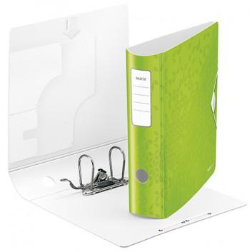LEITZ Qualitäts-Ordner Active WOW; für DIN A4; grün (neues geometrisches Design); 80 mm, abgerundet; 2 Ringe