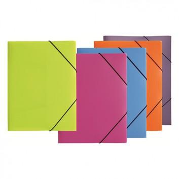PAGNA Eckspanner-Sammelmappe; verschiedene Farben; für DIN A4; Polypropylen; ca. 250 Blatt; mit Gummizugverschluß über den Ecken; mit 3 Klappen