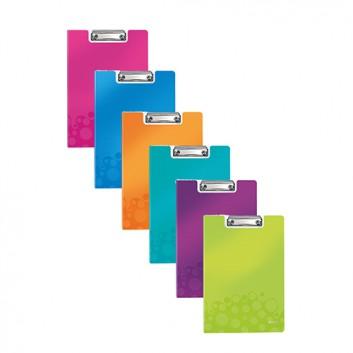 LEITZ Klemmbrett-Mappe WOW; für DIN A4: 23,0 x 33,0 cm (B x T); verschiedene Farben; 3-lagiges Polyfoam; Klemme: Metall