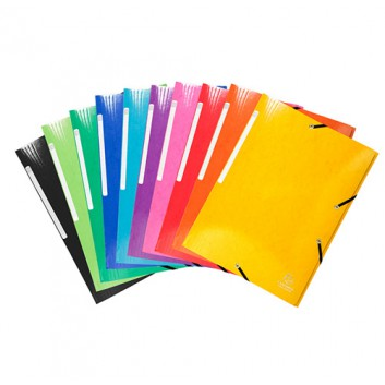 Exacompta Eckspanner-Sammelmappe IDERAMA; verschiedene Farben; für DIN A4; Manila-Karton; 425 g/qm (glänzend); ca. 300 Blatt