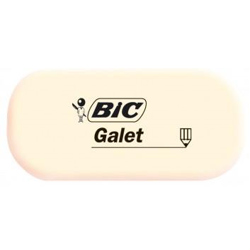 BIC Galet Radiergummi; beige; mittel: 58 x 28 x 13 mm; radiert papierschonend; synthetischer Kautschuk; für Papiere und Transparentpapiere
