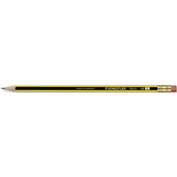 STAEDTLER Noris© 122 Bleistift; HB; schwarz-gelb; Sechskantschaft; mit Radierer