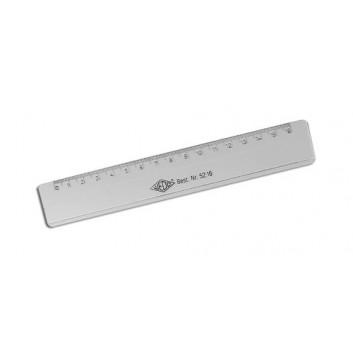 WEDO Lineal; transparent; Polystyrol; 16 cm; Tuschekante doppelseitig, Aufhängeloch; mit geprägter Skala