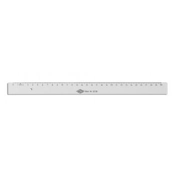 WEDO Lineal; transparent; Polystyrol; 30 cm; Tuschekante doppelseitig, Aufhängeloch; mit geprägter Skala