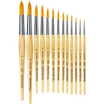 da Vinci Schulmalpinsel JUNIOR rund; verschiedene Größen; goldfarbene Synthetikfasern; lackierter Stiel auf Wasserbasis
