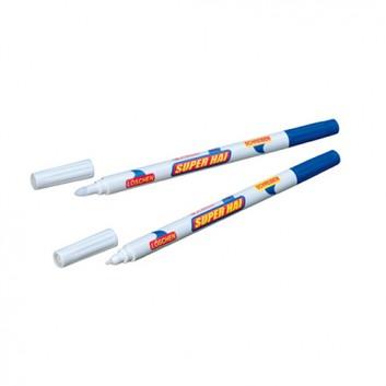 Herlitz Tintenkiller/Tintenlöscher Stift; klar - blau; blau; Strichstärke: M; 2 Stück, auf Blisterkarte; Überschreibspitze: 1,00 mm, Rundspitze