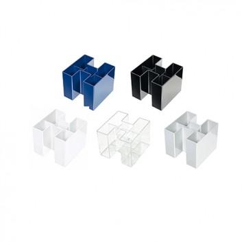 HAN Stifteköcher BRAVO; 109 x 109 x 90 mm (B x H x T); verschiedene Signalfarben; hochwertiger Kunststoff, Polystyrol (PS); 5 Fächer