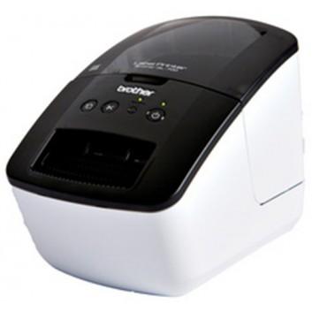 Brother Etikettendrucker QL-700; schwarz-weiß; 150 mm / Sek., 93 Etiketten / Min.; USB-Schnittstelle; CD, USB-Kabel, Netzkabel, Starterkit