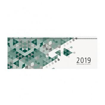 ZETTLER Tischquerkalender: 1 Woche = 2 Seiten; Deckkarton:grün-weiß / Druck:schwarz; 42 x 15 cm; 1 Woche = 2 Seiten / 120 Seiten; 1260013