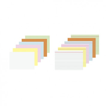 Karteikarten; diverse Varianten