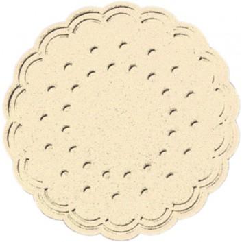 Duni Tassendeckchen; 7,5 cm; uni; champagner; 106384; Zelltuch, 9-lagig; Durchmesser