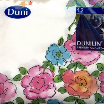 Duni Dinner-Servietten; 40 x 40 cm; Flower dream; 158804; Dunilin; 1/4-Falz (quadratisch); Vlies