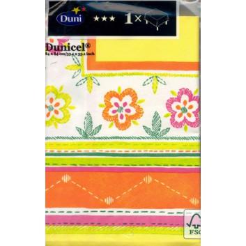 Duni Mitteldecke; 84 x 84 cm; Blumen; bunt; Dunicel: saugfähig, reißfest; Breite x Länge