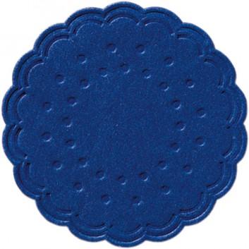 Duni Tassendeckchen; 7,5 cm; uni; dunkelblau; 351881; Zelltuch, 9-lagig; Durchmesser