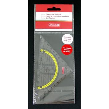 Brunnen Geometriedreieck, Office to go; transparent, gelb hinterlegt; Kunststoff (bruchsicher); Länge der Hypotenuse: 160 cm