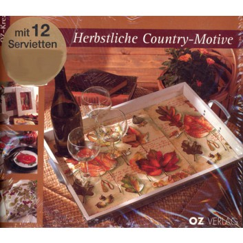 Marabu Bastelbuch; Serviettentechnik; Country; incl. 12 Servietten