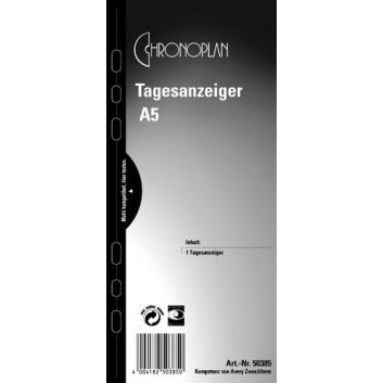 Chronoplan Tagesanzeiger; transparent; A5; 50385; Kunststoff-Folie