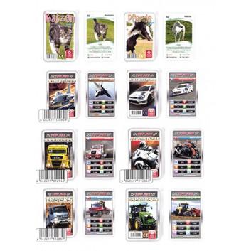 ASS Quartett; Tiere, Fahrzeuge etc.; 32 Karten; 59 x 91 mm; im transparenten Stülpdeckeletui