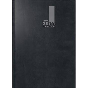 Brunnen Buchkalender TimeCenter; schwarz; 15 x 21 cm; 1 Monat = 2 Seiten; 107292116; Baladek-Einband; Kalender und Notizbuch in einem