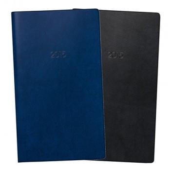 Brunnen Taschenkalender; dunkelblau oder schwarz; 8,7 x 15,3 cm; 1 Monat = 2 Seiten; 1075328..; Kunststoff-Einband; Kalendereinlage auswechselbar