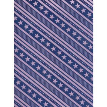 Weihnachts-Geschenkpapier, Bogen; 70 x 100 cm; Sterne; flieder auf dunkelblau; Bogen gerollt - Sonderpreis